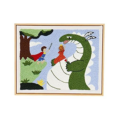 Stitch Cross Stitch Kit Da Ricamo Modelli Di Avviamento Kit Per Principianti Kit Fai Da Te - Kit Punto Croce Per Adulti Regalo Fai Da Te Kit Per Adulti - Guerriero, Principessa E Drago