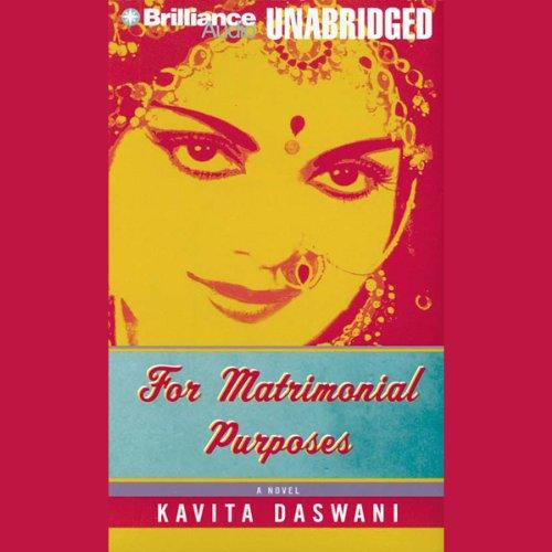 For Matrimonial Purposes audiobook cover art