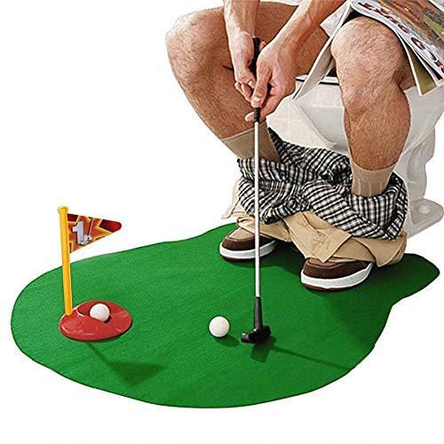 Youlala Jeu de Golf pour Toilettes et Salle de Bain avec Mini Pot, Putter de Salle de Bain, Jouet...
