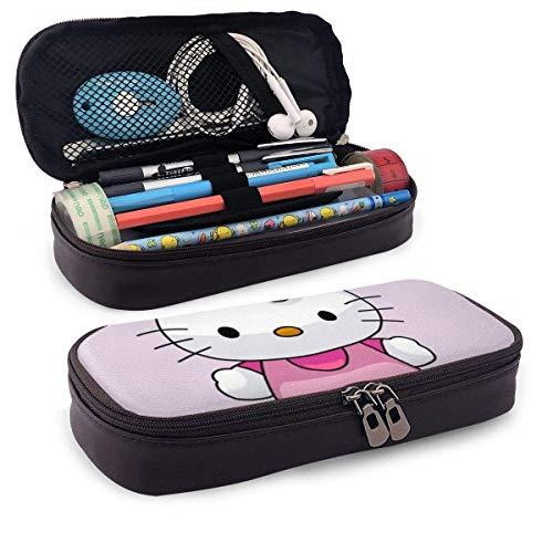 Federmäppchen Zeichnen Hello Kitty Big Capacity Bleistiftbeutel Make-up Federbeutel Briefpapier mit Doppelreißverschluss Stifthalter für Schule/Büro
