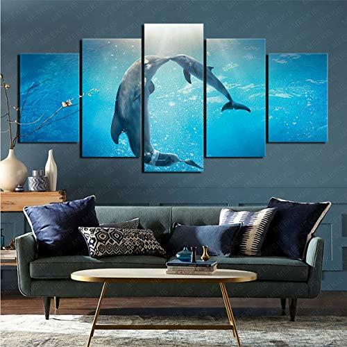 mmkow Póster de pared de 5 películas Dolphin Tale 2 Living Art Artist's Hobby Painter, 80 x 150 cm (sin marco)
