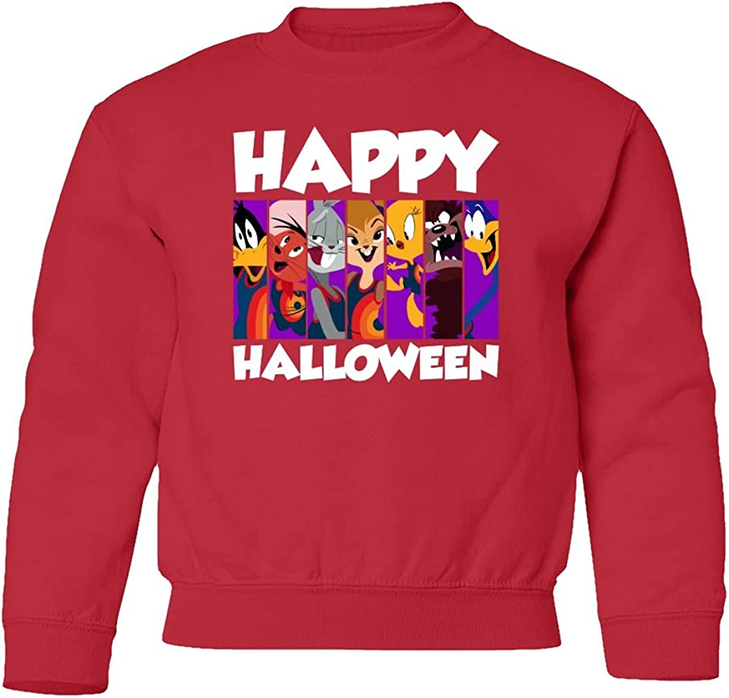 Looney Wish You a Happy Tunes Youth New Shipping Free Halloween Sweater Sale Special Price Crewneck