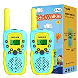 ZasLuke Walkie Talkies for Kids, 22 Channels 2 Way Radio Toy with Backlit LCD Flashlight, 3 Miles Range for 3-12 Year Old to Outside Adventures, Camping, Hiking (2 Pack)