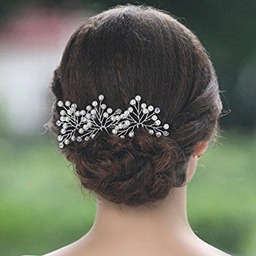 Aukmla Damen Haarschmuck, Brautschmuck, Haarnadeln, 3 Stück - 3