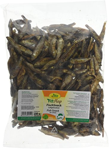 cdVet Naturprodukte FischSnack Beutel 250 g - Hund, Katze - Einzelfuttermittel - Belohnung - wertvolle Omega Fettsäuren - natürlich - luftgetrocknet - ohne Farbstoffe + Konservierungsstoffe -