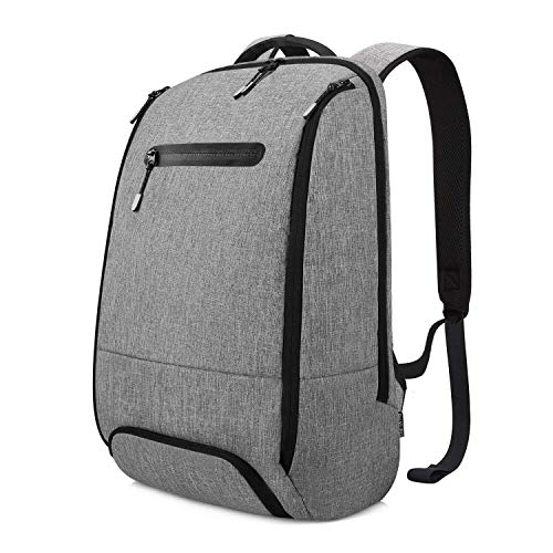 REYLEO Zaino Impermeabile per Computer Backpack Laptop Casual per la scuola Borsa Antifurto per l'ufficio, il lavoro e il viaggio Da 20 L (Grigio)
