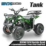 SYX MOTO 36V 800W Tank Kids Mini ATV Dirt Quad Electric Four-Wheeled Off-Road...