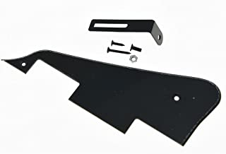 KAISH Single Black 1 Ply LP Guitar Pickguard with Black Bracket for Epiphone Les Paul