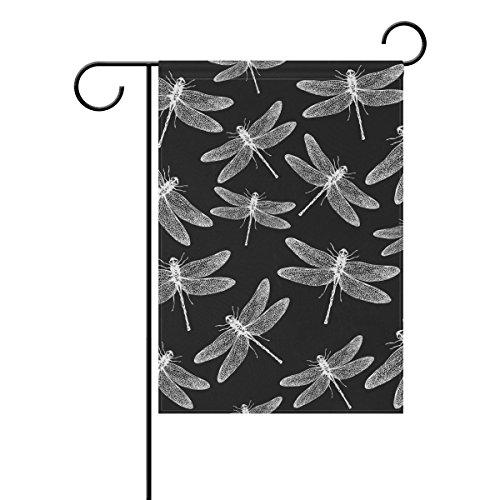 Jstel Home Libellule 5 Tissu Polyester drapeaux de jardin Lovely et résistant aux moisissures personnalisés imperméables de 71,1 x 101,6 cm