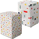 Washing Machine Cover Thicker Waterproof Sunscreen Roller Washer Cover Home Dustproof Zipper Design Front-load Dryer Cover, Geometric Pattern, Floral Pattern