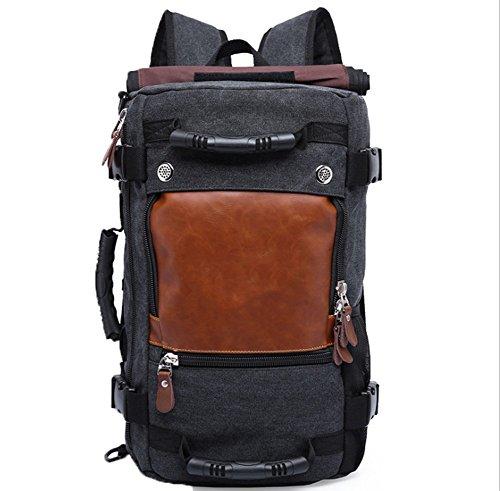 GUOXIAOLI Mode Rucksack Große Kapazität Rucksack Mehrzweck Herren Outdoor Reisetasche (Schwarz/Khaki/Armee Grün)