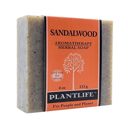 Plantlife Sandalwood 100% Pure & Natural Aromatherapy Herbal Soap- 4 oz (113g)