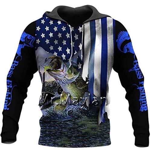 Pesca Camo Chaqueta Estampada en 3D Hombres/Mujeres Harajuku Sudadera con Capucha Unisex Casual Streetwear Sudadera Pullover Hoodies Asian Size 6XL