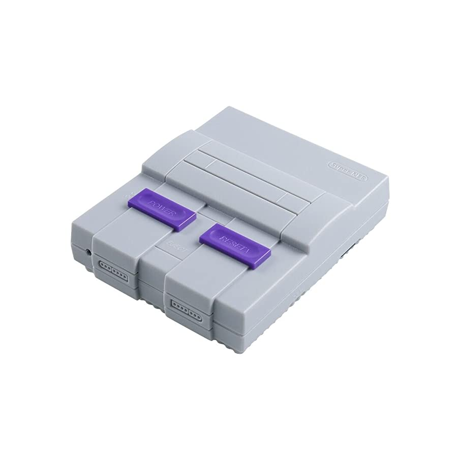 SNES Case for Raspberry Pi 3 B, 2 and B+,with Functional Power and Reset Button and HeatSink,Retro Games Super NES Classic Case