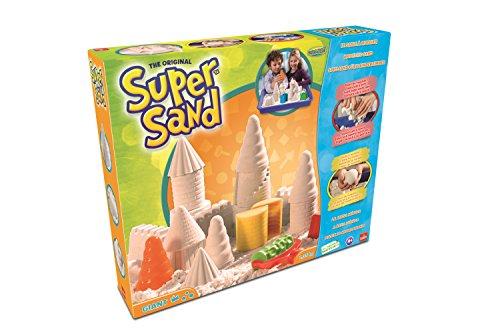 Goliath 83221 | Super-Sand-Set Giant | magischer Super Sand für Sandburgen im Kinderzimmer | kreative Sandbauwerke | großer Spielspaß mit vielen Förmchen | ab 4 Jahren