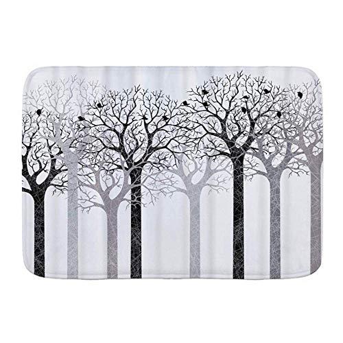 Fußmatten, Mokka-Baum Silhouette Wald, Küche Boden Badteppich Matte Saugfähig Innen Badezimmer Dekor Fußmatte rutschfest