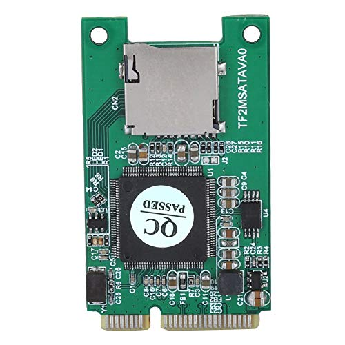 Tangxi Micro SD TF-kaart naar mSATA-adapter, Micro SD TF-kaart naar Mini PCI-E mSATA SSD-adapterconverter, ondersteuning voor 32 GB micro SD TF-kaart, geschikt voor embedded laptops