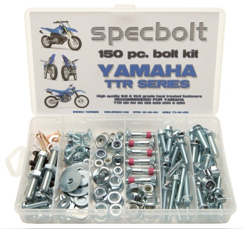 150pc Specbolt Yamaha TTR Bolt Kit for Maintenance Restoration OEM Spec Fasteners TTR50 TTR80 TTR90 TTR110 TTR125 TTR225 TTR250 TTR600 50 80 90 110 125 225 250 600 XT PW