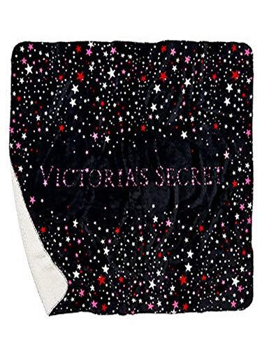 Victoria's Secret Victoria's Secret Blanket Fashion Show Sherpa Black Stars Print Large, Purple