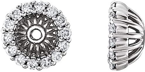 14K White Time sale Gold 1 6 CTW Diamond mm ID Ha Jackets with online shop Earring 4.1