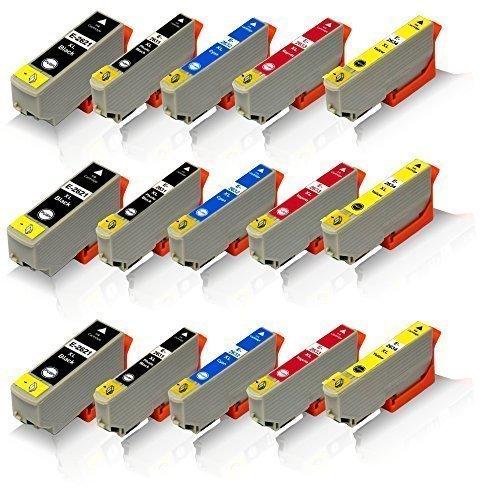 15x kompatible Tintenpatronen für Epson Expression Premium XP-620 XP-625 XP-700 XP-710 XP-720 XP-800 XP-810 XP-820 T-2621 T-2631 T-2632 T-2633 T-2634 Black Photoblack Cyan Magenta Yellow - Office Pro Serie