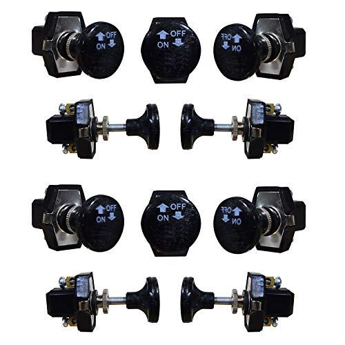 Interruptor de encendido y apagado de 12 V, 5 A, con barra pequeña, juego de 10 piezas, apto para coches y camiones, uso universal