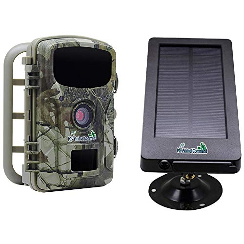 My Animal Command Powered Solar Trail Camera 16MP Game Time Lapse Cam with Night Vision Motion Activated, IP66 Waterproof 1080p Spy Outdoor Deer & Wildlife Hunting. Camera Solar Power Pack Bundle