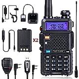 TIDRADIO TD-UV5R Radio 5W Ham Radio Upgraded Version of Baofeng UV-5R Radio Rechargeable Two Way Radio Dual Band UHF VHF Radio