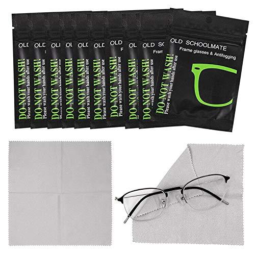 Gxhong 10 Uds Paños Antivaho de Gafas Paño Desempañador de Gamuza Reutilizable Paños de Limpieza de Gafas de Microfibra Usado para Anteojos Gafas de Natación Lentes de Cámara Toallitas limpiadoras