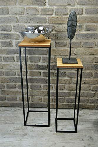Livitat® Beistelltisch Satztisch H80 cm Pflanztisch Pflanzsäule Säulentisch Metall LV5017 (Höhe 80 cm)