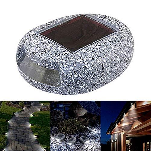 PXNH Luce solare per la decorazione del giardino Sentieri di luce per esterni Lampada da pietre solari a forma di roccia con luce di roccia impermeabile