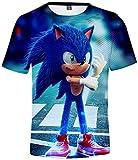 Silver Basic Camiseta Deportiva para Niños 3D Inspirada en la Popular Película y Videojuego Sonic Th...