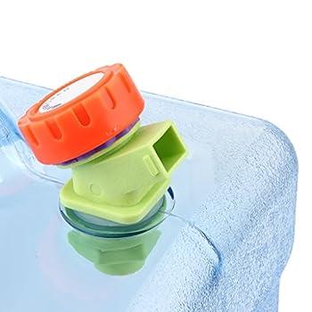 Sharplace Grand Jerrican d'eau pour Voiture, Récipient d'eau Portable avec Poignée et Robinet Idéal pour Voyage et Camping - Clair, 8L