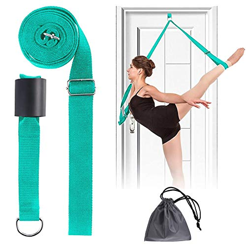 JOYHILL Adjustable Leg Stretcher, Door Flexibility Stretching Leg Strap,Great for Ballet Cheer Dance Gymnastics or Any Sport Leg Stretcher Door Flexibility Trainer Premium Stretching Equipment
