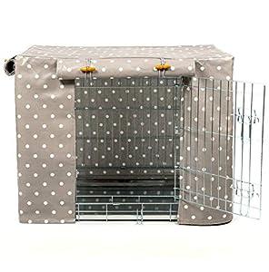 Couverture universelle de cage pour chien ou cage Clarke & Clarke en toile cirée grise par Lords & Labradors