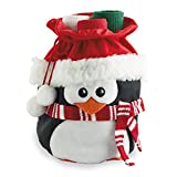 DII Holiday Christmas 16x26' Dish Towel Set with Adorable Penguin Drawstring Gift Bag 6x9', Perfect Holiday Home Kitchen Gift, Housewarming and Hostess Gift