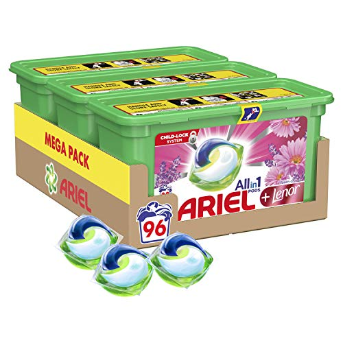 Ariel Pods All-in-One with Touch of Lenor Washing Liquid...