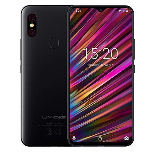 """UMIDIGI X Smartphone con Pantalla AMOLED de 6,35"""" Teléfono Móvil 128GB Cámara Triple AI de 48MP Escáner de Huellas Digitales en Pantalla Batería 4150 mAh Android 9 Teléfono Versión Global[Azul]"""