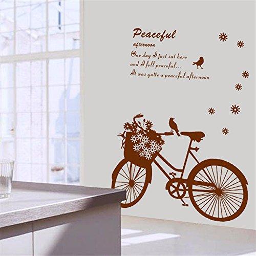 Wohnzimmer Schlafzimmer Veranda Hintergrund Wanddekoration Abnehmbar Aufkleber Personalisierte Kreative Picknick Fahrrad Wandaufkleber 50 X 70 Cm