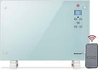 RoomHeaterCrystalGlassPanelHeaterforLargeRoom,Homeleader ElectricSpaceHeaterwithRemote,White