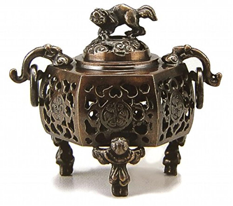 ふくろうバラバラにするハドル『葵?香炉』銅製