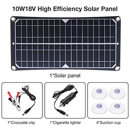 Following 10W18V Panel de carga de ahorro de energía del panel solar de alta eficiencia para la batería del teléfono móvil RV Car Camping Ciclismo Viajar generador al aire libre delightful chic