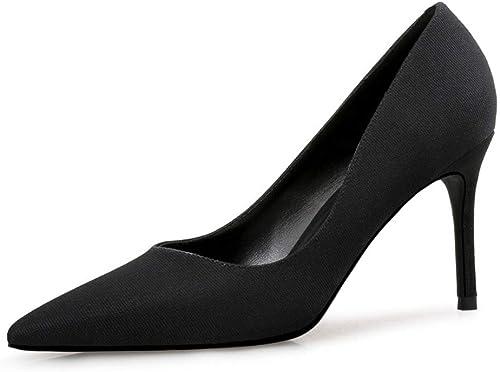 damen es High Heels, 2019 Spring Europe und America Pointed Pointed Pointed High Heel 9cm Stiletto Dress Shallow Kouth Suede Wild damen & 039; S Schuhe professionelle Work schuhe,c,34  exklusive Designs