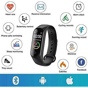 Reloj Inteligente,Pulsera de Actividad física,Smartwatch con Oxígeno Sanguíneo Presión Arterial Frecuencia Cardíaca,podómetro,Calorías,Monitor de Sueño, Monitores de Actividad,Pulsera de Fitness