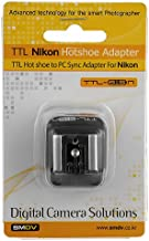 SMDV i-TTL Hotshoe to PC Sync Adapter for Nikon DSLRs Cameras and Flash, Replacing AS-15