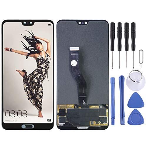 HUAI Telefoons Vervangende Onderdelen Toolkit LCD-scherm en Digitizer Volledige montage voor Huawei P20 Pro(zwart) Screen Glass Kit + Volledige Reparatie Gereedschap Gratis Gereedschap, Zwart