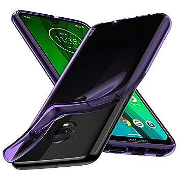 Moto G7 Case Moto G7 Plus Case Aeska Ultra [Slim Thin] Flexible TPU Soft Skin Silicone Protective Case Cover for Motorola Moto G7 / Moto G7 Plus  Purple