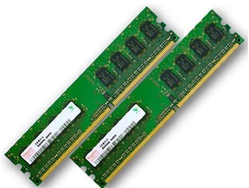 2GB Dual Channel Kit 2 x 1 GB 240 pin DDR2-533 (533Mhz, PC2-4200U, CL4, 240 pin) Non ECC, unbuffered für DDR2 Mainboards - 100% kompatibel zu PC2-3200U, CL3
