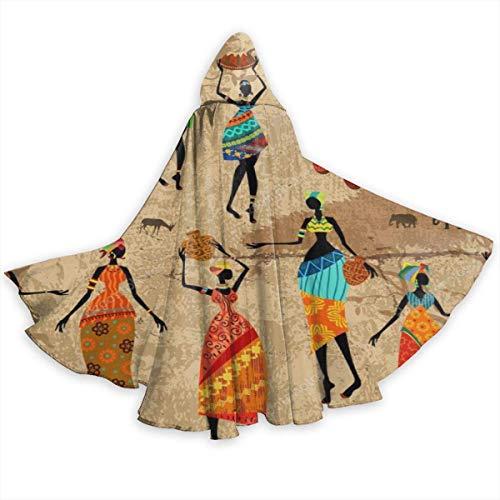 Vampiro Traje Danza tnica De Las Mujeres Africanas De La Vendimia Disfraz Halloween Talla Unica Disfraces De Vampiro Cosplay Disfraz De Bruja para Hombre Mujer 150X40Cm