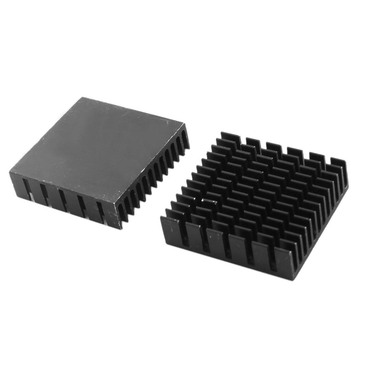 Aexit PCB Board Relays 40x11x40mm Black Aluminum Chipset Heatsink Cooling PC Board Relays Fin 2PCS